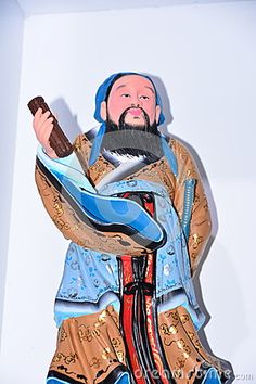 Colored clay figures are the ancient teacher Chinese, photographed in Beijing Cultural Expo.