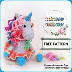 In this article I will share with you a great amigurumi doll free pattern. You can enjoy this beautiful amigurumi doll free pattern with pleasure. Crochet Dolls Free Patterns, Amigurumi Patterns, Free Crochet, Crochet Unicorn Pattern Free, Giraffe Crochet, Crochet Animals, Amigurumi Free, Amigurumi Doll, Rainbow Unicorn