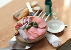 Miniature meats, bread, and serving pieces - For a Fork by PetitPlat - Stephanie Kilgast, via Flickr