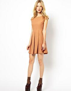 Image 4 ofMademoiselle Tara Dress with Full Skirt and Zip Back