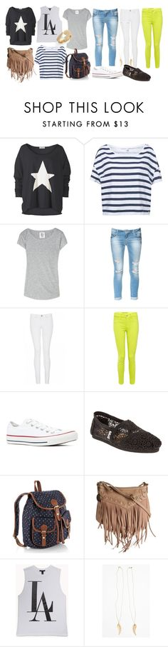 """""""untitled #9"""" by kylieandkendalljennerstyle ❤ liked on Polyvore featuring Zoe Karssen, Zara, Quiz, J Brand, Converse, TOMS, Accessorize, Nine West, Forever 21 and Metal Haven by Kendall & Kylie"""