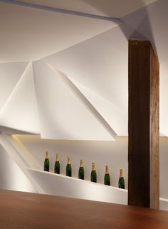 Studio Otto Felix Design Nosotros Bar Featuring A Faceted Sculptural Wall