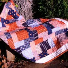Tempie's Auburn Baby Quilt @Tempie DeVaughn Farmer