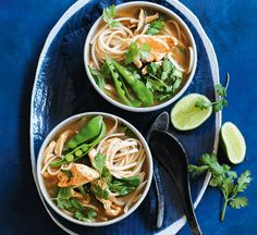 Spicy chicken noodle soup with pak choi - Healthy Food Guide Chicken Udon Soup, Spicy Chicken Noodles, Udon Noodle Soup, Udon Noodles, Healthy Mummy, Healthy Soup, Healthy Recipes, Soup Recipes, Chicken Recipes