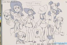 Little Witch Academia Character Model Sheets