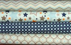 One for the Boys Fat Quarter Bundle in Blue