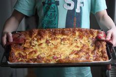 Pannekake med bacon i langpanne(sabla enkelt og godt)