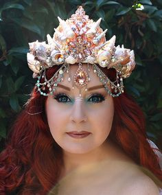 Mermaid Crown Shell Crown Mermaid Headpiece by OnGossamerWings