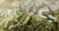 Milan-based architects Stefano Boeri Architetti have unveiled its third vertical forest building - a hotel in the remote Guizhou region of China. Conceptual Architecture, Hotel Architecture, Green Architecture, Sustainable Architecture, Forest Hotel, Vertical Forest, Theme Hotel, Arcology, Forest Mountain