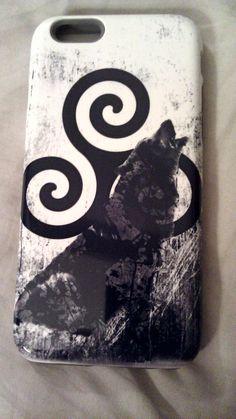 Teen Wolf Insprired Phone Cover ~ Derek Hale ~ Black Wolf ~ Werewolf~ Iphone 6 by WitchcraftsGifts on Etsy