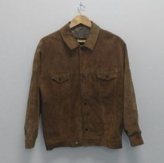 Vintage Suede Trucker Bomber Jacket Chore Oi Polloi Wavey Garms French Worker M
