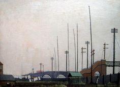Walter J Steggles, Railway Fence, East London Group 1930 Camden London, East End London, Camden Town, Bow Art, Roman Roads, London History, Brick Lane, Art Google, Contemporary Artists