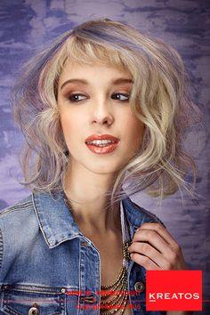 Kreatos kapsels voor vrouwen 2015 -Denim Delight - haar halflang pastel blond