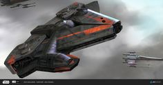 Cool Corelian spaceship design.