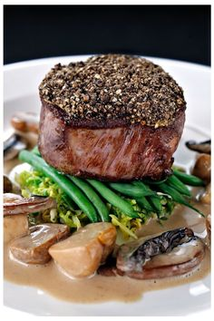 Peppered fillet of beef with whisky Sauce