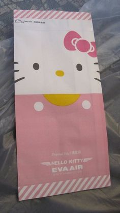 Hello Kitty barf bag..... so even yor vomit can be adorable