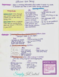 Note-Taking Tips and Strategies - a must read article for students of school and university!!