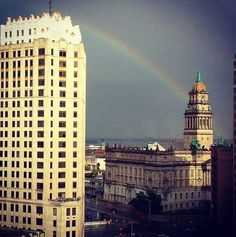 Rainbow over Detroit.... my heart goes out to all the residents of Detroit as their municipality files bankruptcy! So many unknowns and so many changes in the very near future!