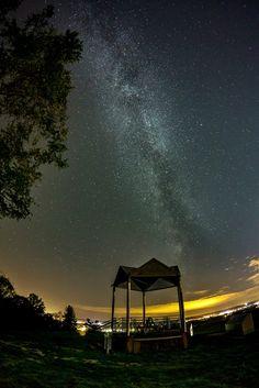 Stars 6 by Roland Unger....... #trees #sky #night #clouds #stars #germany #longexposure #milkyway #nightphotography #nightscape #FreeStateofBavaria