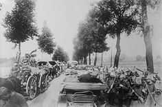 The German army marching into Belgium - August 1914.