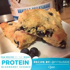 Make any time of day special with these amazing #CheatClean scones! This week's Fan Recipe from @fitsussie packs 10g protein per serving to make this a healthy dream come true! Ingredients: ½ cup of almond…