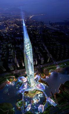 """PHOTOS. Le gratte-ciel invisible """"Tower Infinity"""" va devenir réalité en Corée du Sud"""