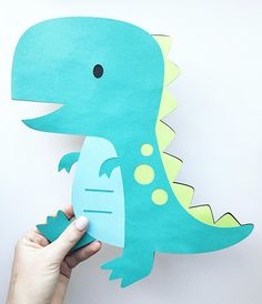 Extra Large Dinosaur Cutout - inches - Diecut - Dino Cutout - Dinosaur Decorations - Large Dinosaur Centerpiece in 2019 Die Dinos Baby, Baby Dinosaurs, Dinosaur Birthday Party, Birthday Love, Dinosaur Party Decorations, Centerpiece Decorations, Largest Dinosaur, Dinosaur Crafts, Dinosaur Dinosaur