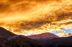 Fire in the Sky 7  Color Landscape by EagleEyeOriginals on Etsy, $30.00