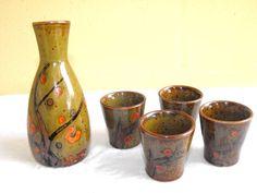 Vintage Earthenware Ceramic Sake Set OMC by DeeSweetNostalgia, $29.99 -SOLD