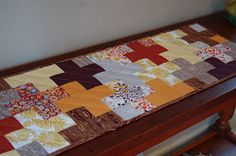 "FREE pattern: ""Plus Table Runner"" (from Sew We Quilt on Holidays)"