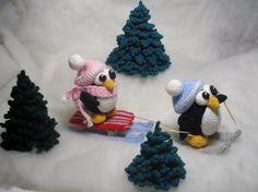 Penguins sledge  pdf crocheting pattern by mashutkalu on Etsy, $4.00