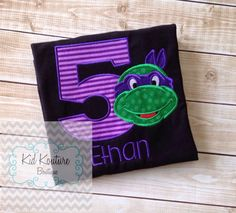 TMNT Birthday shirt by KoutureKid on Etsy