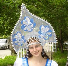 Beautiful kokoshnik - The kokoshnik is a commonly used name for a variety of traditional Russian headdresses worn by women and girls to accompany the sarafan, primarily worn in the northern regions of Russia in the 16th to 19th centuries.