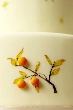 Hand painted cake detail