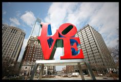 LOVE Park, Philadelphia. Someday take a picture with the people nearest & dearest to my heart <3