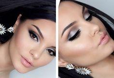 augen make-up braune-augen-lidschatten-silber-caramell