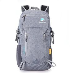 Paladineer Hiking Backpack Travel Daypack Sports Bag for CampingClimbingMountaineeringCycling 28L Gray -- Click on the image for additional details. (This is an affiliate link) #HikingDaypacks
