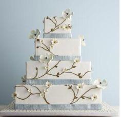 Seersucker wedding cake