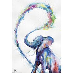Elephant - Poster von Marc Allante