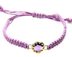 Natural glass bracelet sterling silver