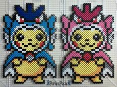 Pikachu Wearing Gyarados Hoodies by PerlerPixie on DeviantArt Pokemon Perler Beads, Diy Perler Beads, Pearler Beads, Perler Bead Templates, Perler Patterns, Les Gremlins, Hama Beads Design, Melting Beads, Perler Bead Art