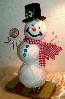 Sweetpeas and Kisses: Yarn Snowman
