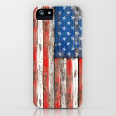 USA Vintage Wood iPhone Case