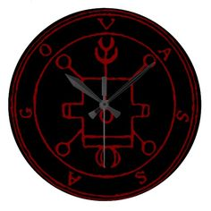 Black Seal of Vassago Round (Large) Wall Clock by Wraithe Designs.