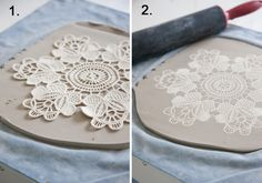 Maggie Weldon Lace Pottery