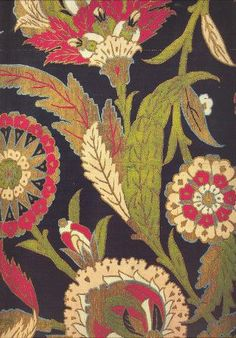~ Kaftan fabric (detail) with a design of saz leaves and blossoms, mid-16th…