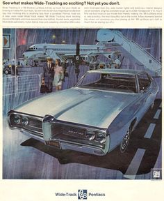 1967 Pontiac LeMans for 1968 Airport - www.MadMenArt.com | Vintage Cars Advertisement. Features over 1200 of the finest vintage cars until 1970.