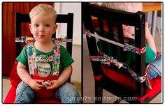 :: DIY Travel High Chair - The Tutorial :: How to make a fabric travel high chair for wiggly toddlers.