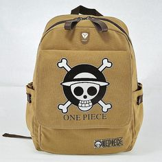 One Piece Canvas Backpack Logo //Price: $36.58 & FREE Shipping //     #onepiecefan