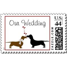 Dachshunds Wedding Stamp  I wish I would have known about these when i got married!